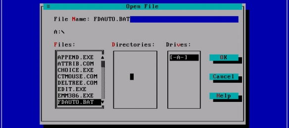 FreeDOS - Edit