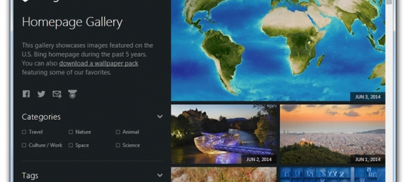 Bing Homepage Gallery